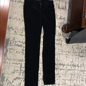 Theory Black Corduroy Skinny Black Pants. Size 0